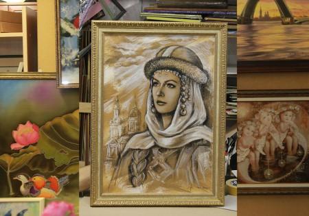 Оформление живописи в багет, хотите такой же? Звоните по телефону: (812) 640-90-82